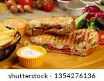 toasted sandwich   grilled... | Shutterstock . vector #1354276136