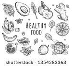 vector illustration of healthy... | Shutterstock .eps vector #1354283363