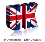 3d uk text or background of... | Shutterstock .eps vector #1354296809