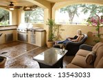 a lounge area in a new luxury... | Shutterstock . vector #13543033