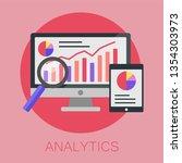 vector illustration of data... | Shutterstock .eps vector #1354303973