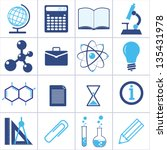 icons of a science and... | Shutterstock .eps vector #135431978