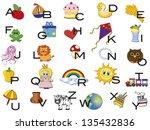 illustration of alphabet with... | Shutterstock . vector #135432836