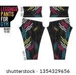 leggings pants for gym | Shutterstock .eps vector #1354329656