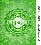 bathing cap green emblem.... | Shutterstock .eps vector #1354345553