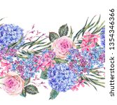 watercolor vintage floral...   Shutterstock . vector #1354346366
