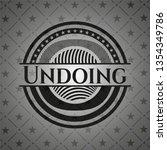 undoing retro style black emblem | Shutterstock .eps vector #1354349786