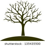 winter tree | Shutterstock .eps vector #135435500