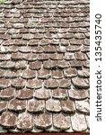 old wooden texture | Shutterstock . vector #135435740