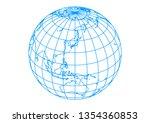 blue spherical earth | Shutterstock .eps vector #1354360853
