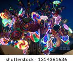 colourful candy trees at the...