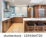 beautiful kitchen in... | Shutterstock . vector #1354364720