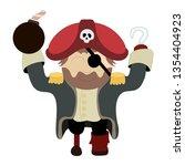 cartoon character pirate. nice... | Shutterstock .eps vector #1354404923