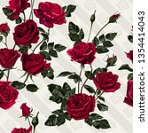 Flowers Seamless Pattern. Red...