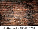 Antique Brown Brick Wall Of Re...