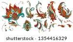 set of beautiful paisley | Shutterstock .eps vector #1354416329