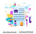 frame with copy space on... | Shutterstock .eps vector #1354425503