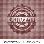 non flammable red emblem with... | Shutterstock .eps vector #1354429799