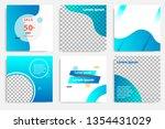 six set modern wave fluid... | Shutterstock .eps vector #1354431029