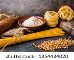italian pasta  spaghetti ... | Shutterstock . vector #1354434020