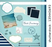 scrapbooking set  summer... | Shutterstock .eps vector #135443693