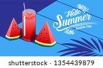 summer holiday  poster  ... | Shutterstock .eps vector #1354439879