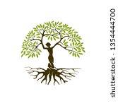 Abstract Human Tree Logo....