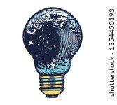 storm in a light bulb. great... | Shutterstock .eps vector #1354450193