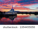 scenic view of floating mosque... | Shutterstock . vector #1354455050