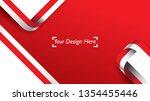 indonesian patriotic background ... | Shutterstock .eps vector #1354455446