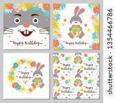 happy birthday collection of... | Shutterstock .eps vector #1354466786