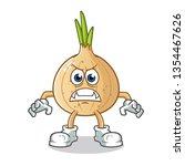 onion monster mascot vector... | Shutterstock .eps vector #1354467626