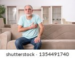 white bearded old man suffering ... | Shutterstock . vector #1354491740