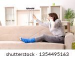 woman after car accident... | Shutterstock . vector #1354495163