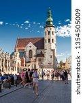 krakow  poland may 30  2018 ... | Shutterstock . vector #1354505009
