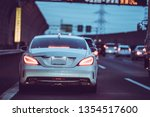 traffic jam and car | Shutterstock . vector #1354517600
