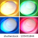 set of abstract oval backgrounds | Shutterstock .eps vector #135451844