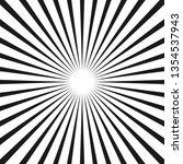 black and white rays.... | Shutterstock .eps vector #1354537943