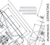 blueprint. corporate identity....   Shutterstock .eps vector #1354567343