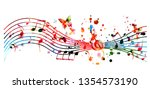 music background with colorful... | Shutterstock .eps vector #1354573190