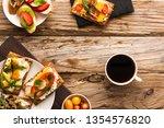 breakfast table with tasty... | Shutterstock . vector #1354576820