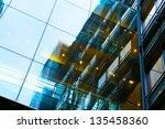 art exterior of modern glass... | Shutterstock . vector #135458360