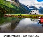 family vacation travel rv ... | Shutterstock . vector #1354584659