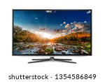 4k monitor isolated on white | Shutterstock . vector #1354586849