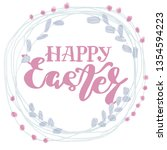 happy easter type greeting... | Shutterstock .eps vector #1354594223