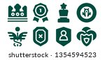 insignia icon set. 8 filled... | Shutterstock .eps vector #1354594523