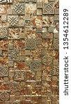 beautiful brown mosaic tiles...   Shutterstock . vector #1354612289