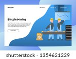 bitcoin cryptocurrency mining... | Shutterstock .eps vector #1354621229