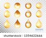 transparent drops sets. round... | Shutterstock .eps vector #1354622666