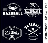 set of vintage baseball... | Shutterstock .eps vector #1354623140